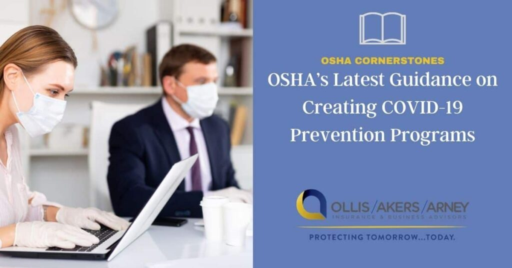 OSHA's Latest Guidance on Creating COVID-19 Prevention Programs